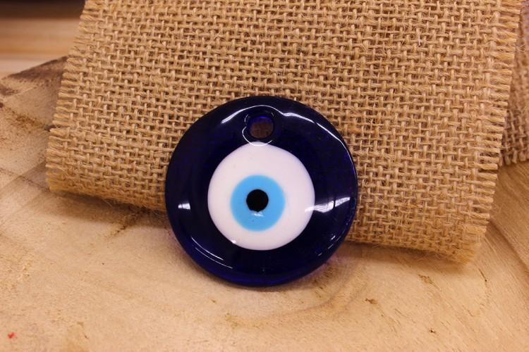 Μάτι Γυάλινο Μπλε 50mm