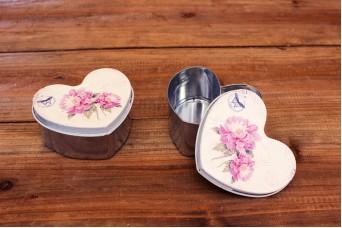 Tins Inox Καρδιά Floral Λιλά T0523L