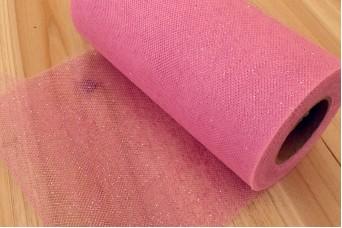 Τούλι Glitter Ρολό Ροζ TL120839-2
