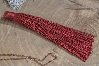 Φούντα Γυαλιστερή 12cm Μπορντώ TS-8116-20