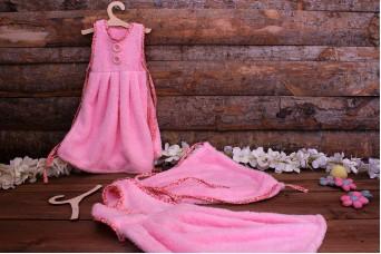 Πετσέτα Χεριών Μπουρνούζι Ροζ