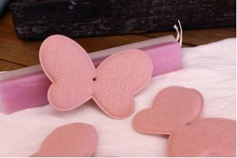 Υφασμάτινη Πεταλούδα Ροζ 12cm 5τεμ. UBF12-08458-4