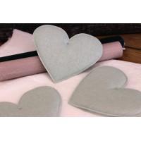 Υφασμάτινη Καρδιά Μέντα 12cm 5τεμ. UHR12-08458-5