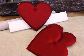 Υφασμάτινη Καρδιά Κόκκινη 12cm 5τεμ. UHR12-08464-26
