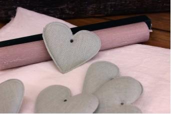 Υφασμάτινη Καρδιά Μέντα 8cm 10τεμ. UHR8-08458-5