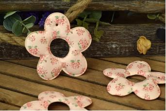 Υφασμάτινη Μαργαρίτα 5τεμ Floral Ρομαντικό Ροζ 12cm UDS12-9991-P