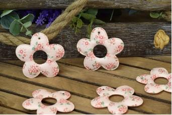 Υφασμάτινη Μαργαρίτα 10τεμ Floral Ρομαντικό Ροζ 8cm UDS8-9991-P