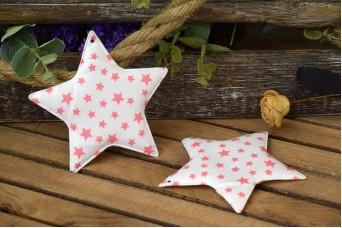 Υφασμάτινο Αστέρι 5τεμ Αστέρια Ροζ 12cm UST12-101211-3