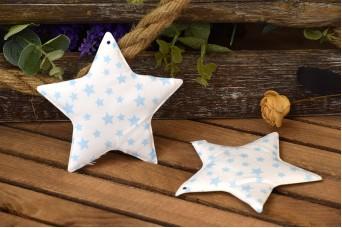 Υφασμάτινο Αστέρι 5τεμ Αστέρια Σιέλ 12cm UST12-101211-4