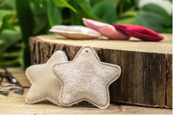 Υφασμάτινο Αστέρι 10τεμ Βελούδο Μπεζ UST5-5947-2