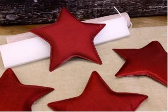 Υφασμάτινο Αστέρι 5τεμ Κόκκινο 12cm UST12-08464-26