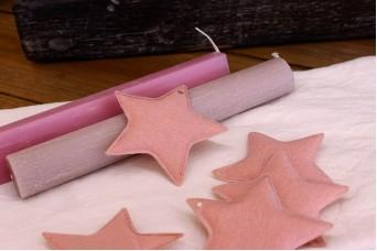 Υφασμάτινο Αστέρι 10τεμ Ροζ 8cm UST8-08458-4