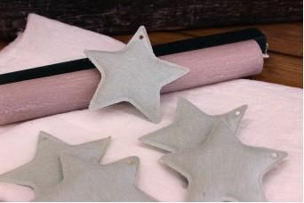 Υφασμάτινο Αστέρι 10τεμ Μέντα 8cm UST8-08458-5