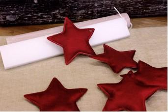 Υφασμάτινο Αστέρι 10τεμ Κόκκινο 8cm UST8-08464-26