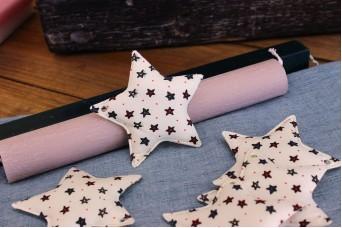 Υφασμάτινο Αστέρι 10τεμ Αστεράκια 8cm UST8-132510-1