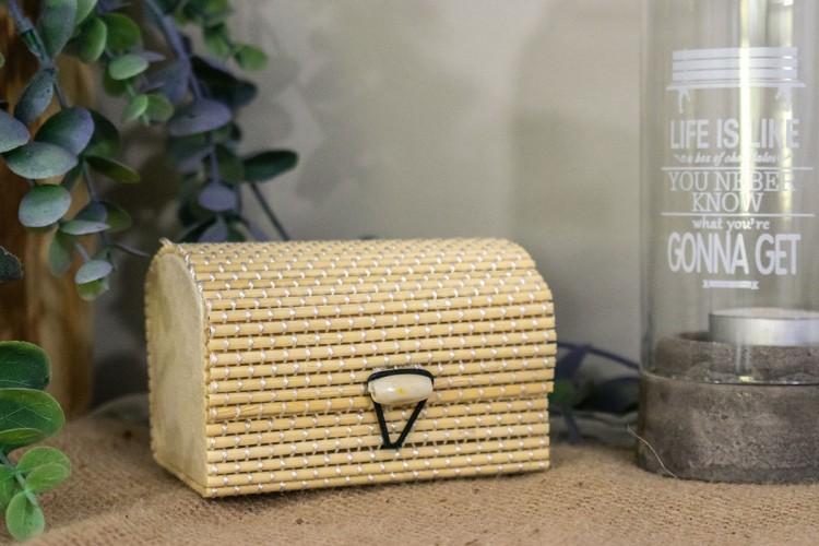 Κουτί Μπαουλάκι Bamboo 6x6x9cm WI-4660