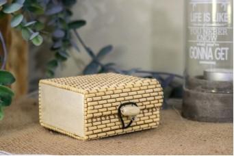 Κουτί Ξύλο-Ψάθα 7cm WI0882