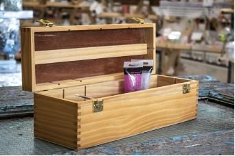 Κουτί Ξύλινο για Υλικά Χειροτεχνίας 40cm WI3818