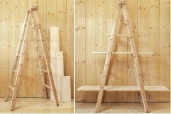 Σκάλα Διπλή 180cm Φυσικό WI9483-180-2