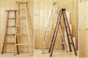 Σκάλα Διπλή 150cm Φυσικό WI9483-150-2