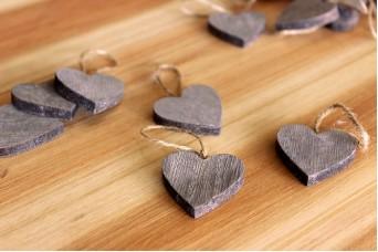 Καρδιές Ξύλινες 20τεμ. WI0053
