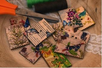 Γραμματόσημα Ξύλινα Vintage Mix Designs WI162404