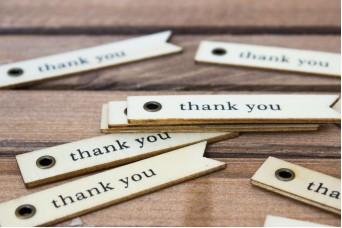 """Ξύλινο Καρτελάκι """"Thank You"""" 10τεμ. WI4616"""