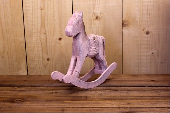 Αλογάκι Κουνιστό Ροζ