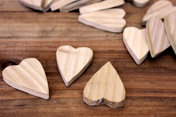 Καρδιές Ξύλινες 30τεμ. WI7751