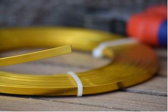 Σύρμα Χειροτεχνίας 10m Πλακέ Χρυσό MI141050-5-00