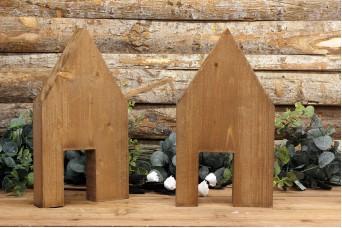 Ξύλινα Σπιτάκια με Πόρτα 35cm WIW900-D451935-BR