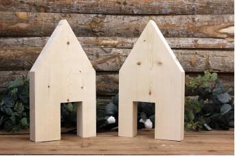 Ξύλινα Σπιτάκια με Πόρτα 35cm WIW900-D451935-N