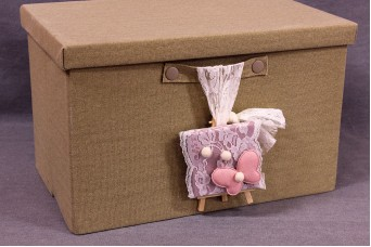 Κουτιά Βάπτισης με Ξύλινο Καβαλέτο BX-004