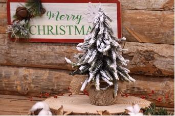 Χριστουγεννιάτικο Δεντράκι σε Τσουβαλάκι 27cm CD2332