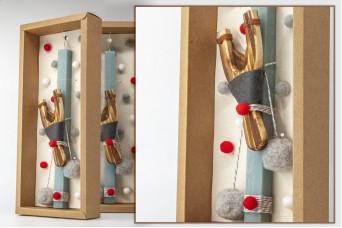 Πασχαλινή λαμπάδα με θήκη/display EC20-006-01