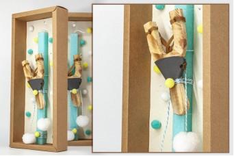 Πασχαλινή λαμπάδα με θήκη/display EC20-006-05