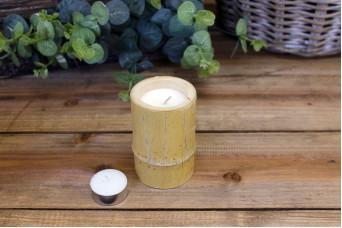 Φυσικό Bamboo με Κερί Φ6εκ