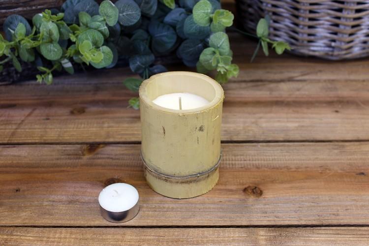 Φυσικό Bamboo με Κερί Φ8εκ