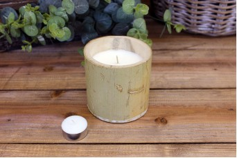 Φυσικό Bamboo με Κερί Φ10εκ
