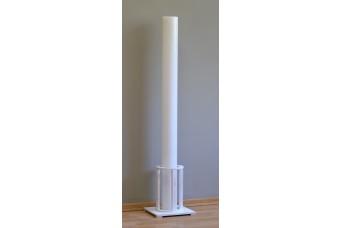 Λαμπάδα Γάμου Λευκή Φ12x140cm Κούφια