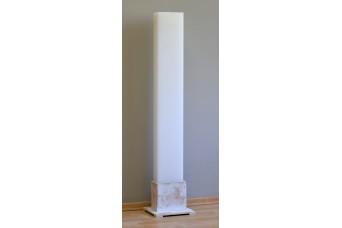Λαμπάδα Γάμου Λευκή 20x10x140cm Κούφια