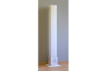 Λαμπάδα Γάμου Λευκή 15x140cm Κούφια
