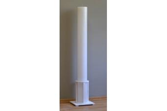 Λαμπάδα Γάμου Λευκή Φ15x140cm Κούφια