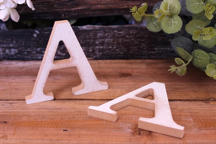 """Γράμμα Ξύλινο """"A"""" Λευκό"""
