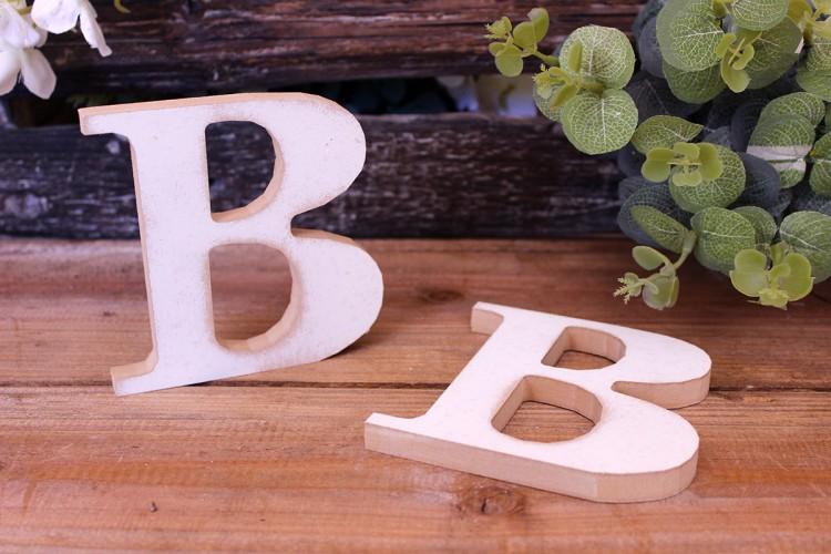 """Γράμμα Ξύλινο """"B"""" Λευκό"""