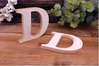 """Γράμμα Ξύλινο """"D"""" Λευκό"""