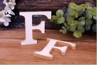 """Γράμμα Ξύλινο """"F"""" Λευκό"""