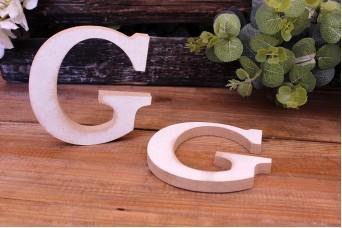 """Γράμμα Ξύλινο """"G"""" Λευκό"""