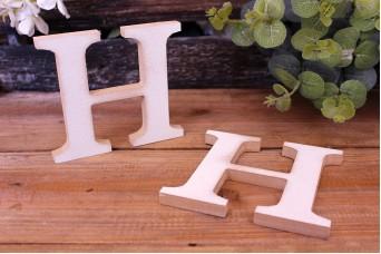 """Γράμμα Ξύλινο """"H"""" Λευκό"""