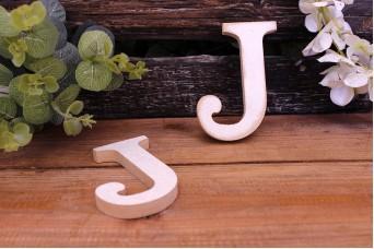 """Γράμμα Ξύλινο """"J"""" Λευκό"""